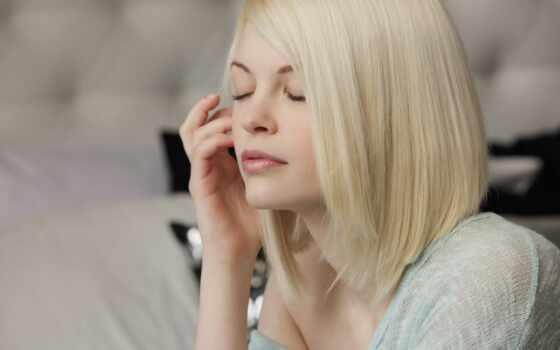 bree, daniels, blonde, лицо, hairstyle, планом, закрыла, свет, крупным, взгляд,