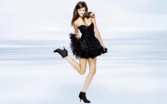 платье, девушка, brunette, взгляд, актриса, добрев, nina, коротком, серия, дневники, вампира,