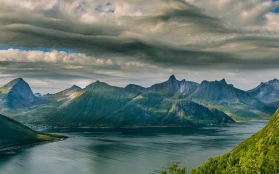 озеро, норвегия, mesa, каньон, norther, река, mjøsa, утро, zdarma, wales,