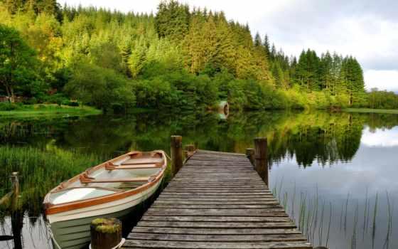 puente, fondos, lago, pantalla, madera, barco, gratis, para, descargar,