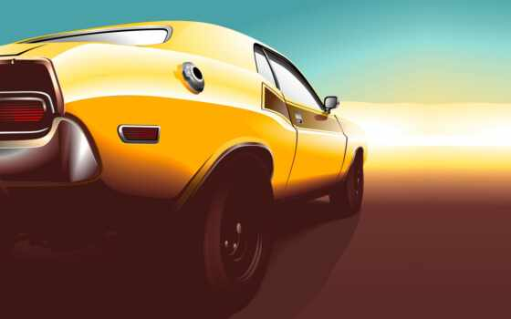 car, muscle, kara, вектор
