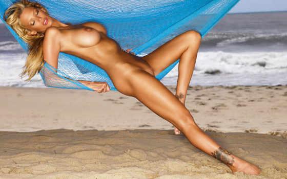 blonde, nude