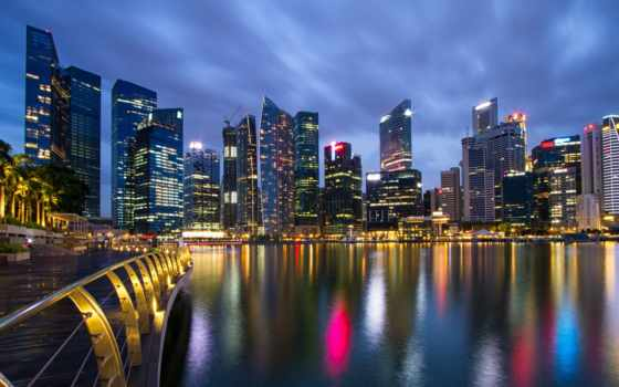 singapore, город, bay