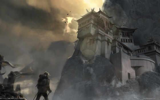 горы, путник, гора, cursed, храм, ступени, уданшань, игры,