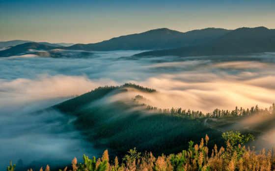 утро, путь, long, горы, tourism, туман, exposure, grants, shack,