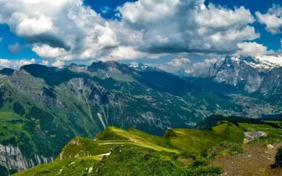 горы, swiss, берн, lauterbrunnen, природа, швейцарии, картинка,