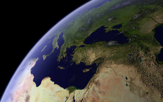 earth, space, планета, view, космоса, art, full,