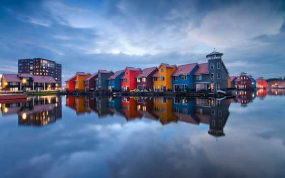 netherlands, отражение, вода