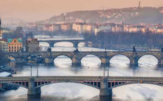 прага, мосты, река