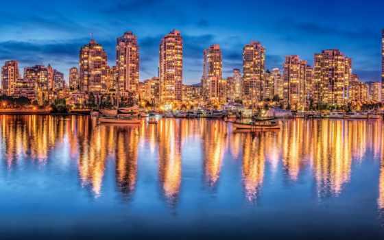 vancouver, burrard, пейзажи -, bay, город, количество, мб,