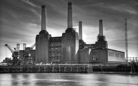 станция, усилитель, battersea, london, amplifier, бе, apple, город,