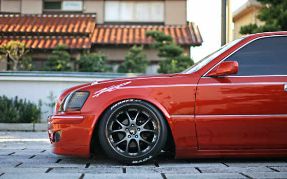 toyota, crown, тюнинг, majesta, vip, red, стиль, wheels, rims, japanese,