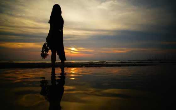 девушка, море, ночь, прогулка, прогулка, images,