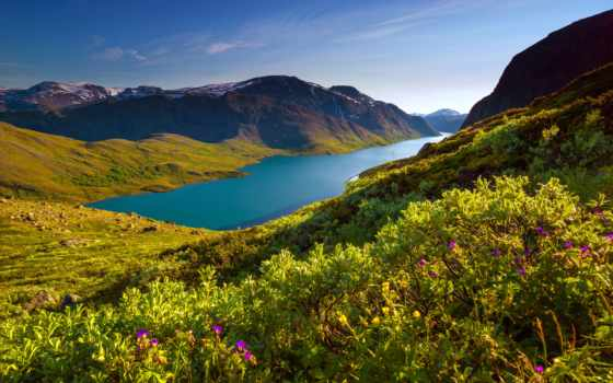 norwegian, природа, норвегии, favourite, норвегия, флаг, озеро, горы,