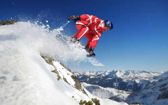 сноубордист, экстрим, сноуборд, спорт, air, мяч