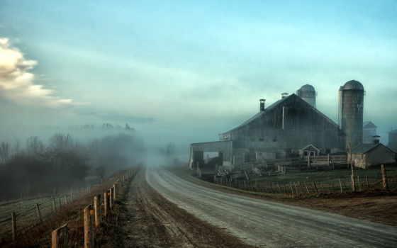 дорога, туман