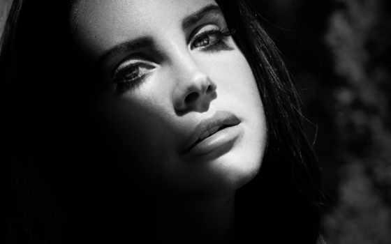 del, lana, rey, singer, ray, девушка, лицо, чёрно, белое,