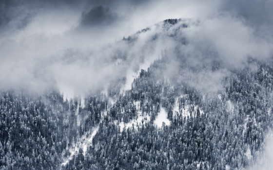 сочи, winter, снег, краснодарский, поляна, landscape, russian, гора, красная, природа, edge,