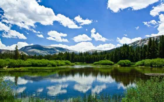 природа, горы, озеро, зелёный, широкоформатные, собраны, высококачествен, нас, есть, возможность,