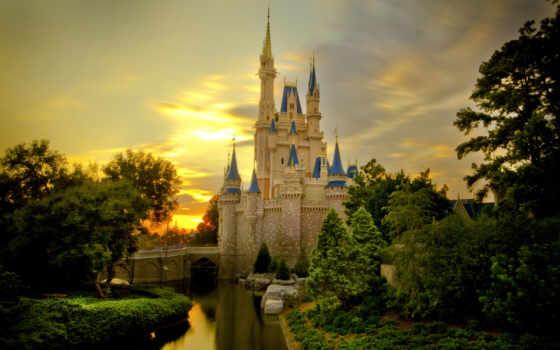 castle, золушки, disney, cinderella, сша, world, walt, кинкейд, томас,