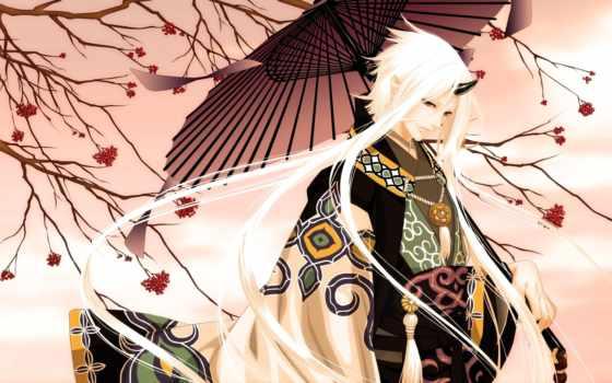 anime, парень, демон, девушка, лет, video, attire, ягоды, зонтик, сюжет,