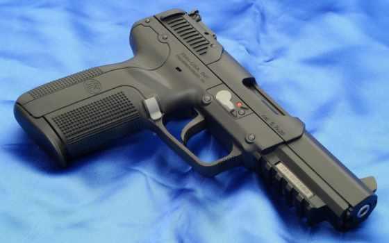 оружие, пистолет, FN, fives-even, пикатинни