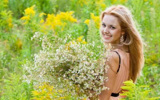 девушка, summer, полевые, настроение, cvety,