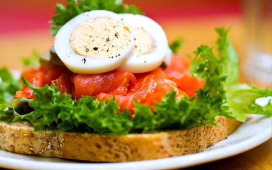 бутерброды, яйцом, бутерброд, яйцо, диеты, лососем,