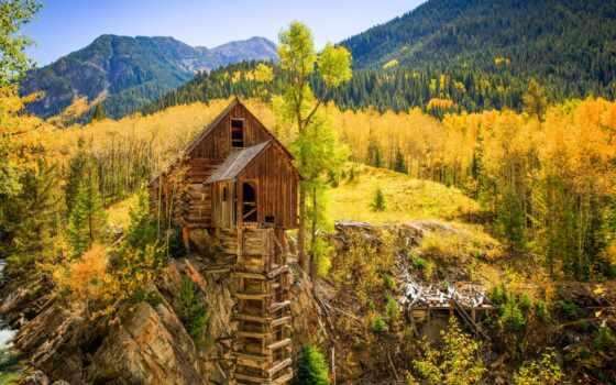 colorado, осень, fore, mill, crystal, гора, usa, landscape, сша