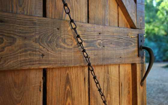 ворота, цепь