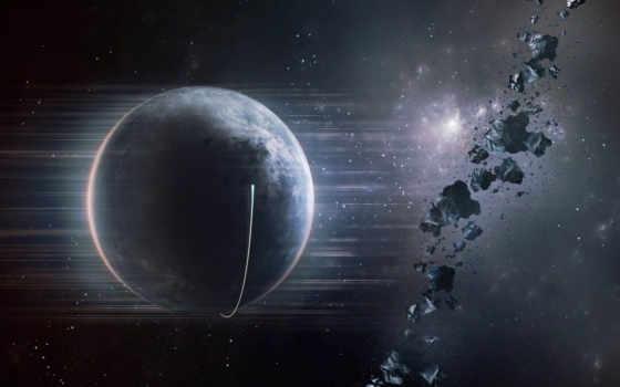 планета, астероиды Фон № 24309 разрешение 1680x1050