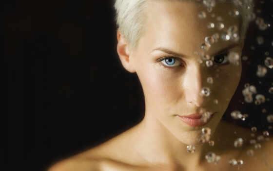 волосы, короткие, девушка, взгляд, blonde,