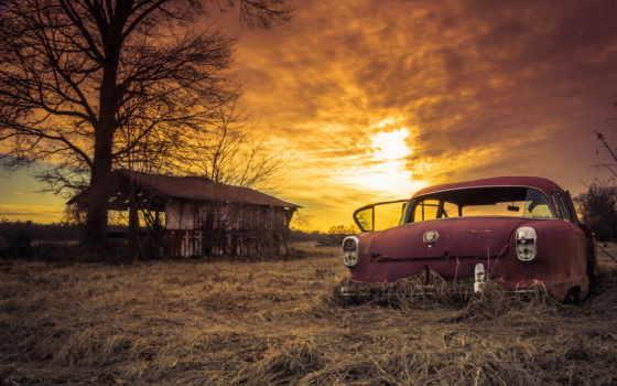 abandoned, car, ржавый