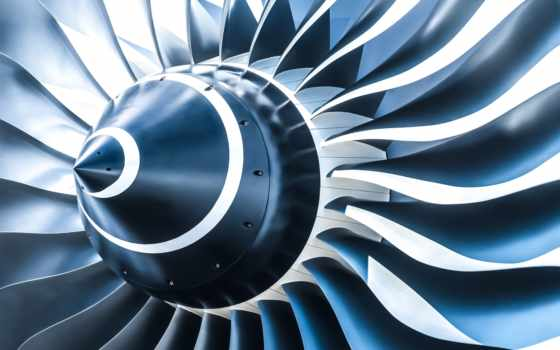 engine, реактивный, самолёт, closeup, airplane, engines, blades, тоне, blue,