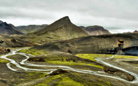 iceland, река, hill, гора