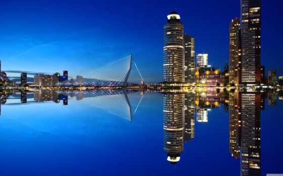 роттердам, skyline, город, company, holland