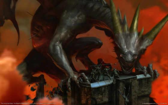 lord, rings, фэнтези, картинку, battle, earth, middle, монстр, дракон, фантастика, mittelerde, herr, schlacht, der, монстры, ringe, игрой,