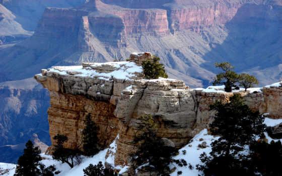 горы, скалы, снег