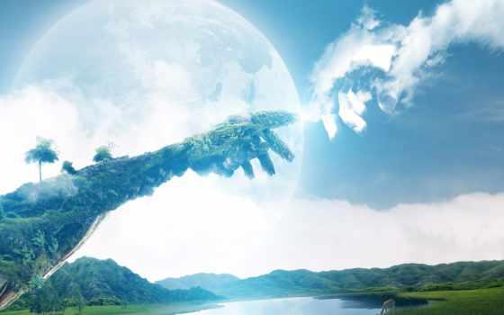 небо, руки, priroda