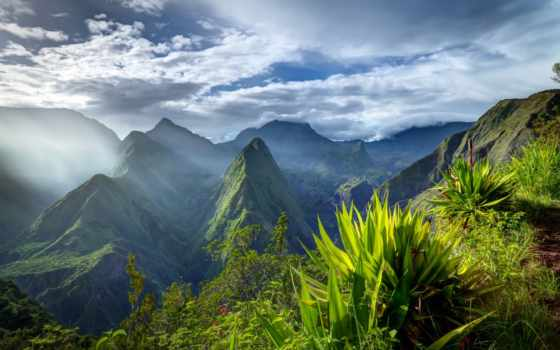 реюньон, остров, океане, индийском, маврикий, острова, travel, reunion,