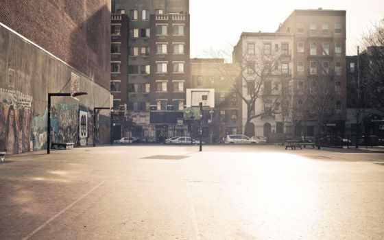 баскетбол, суд, город, сайт
