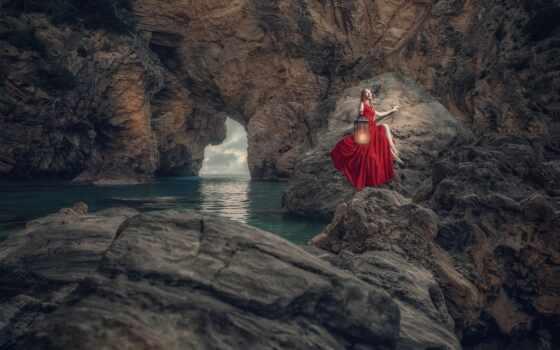 cliff, море, платье, youtube, девушка, desire, eeze, ozcan, песнь, red