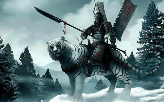 samurai, fondos, rytsari, illustrations, fantasy, tiger, erkek, resimleri, samuray, оригинал, фэнтези, чтобы, зарегистрироваться, fantastik,