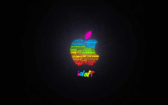 rainbow apple mac from words