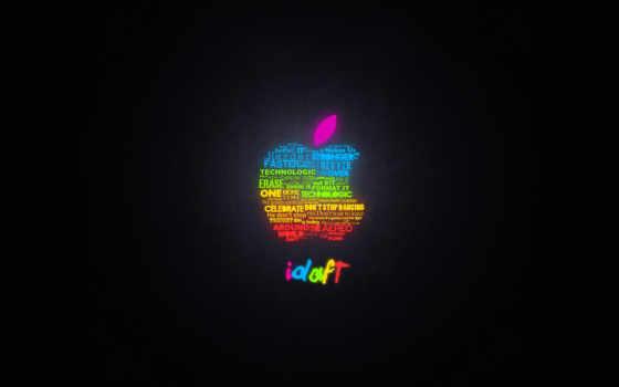 rainbow apple mac from words