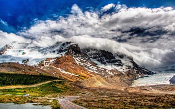 mountains, горы, clouds