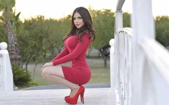 heels, red, high