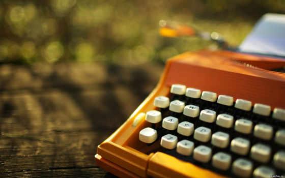 печатная, машина, макро, клавиши, день, sun,