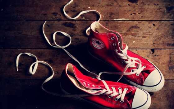 кеды, converse, туфли, кружева, красные,