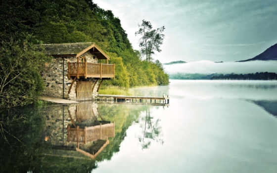 house, озера, далеко, дома, лесу, цивилизации, lodge, лес, обеда, гуляем,